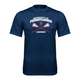 Syntrel Performance Navy Tee-Lacrosse w/ Crossed Sticks