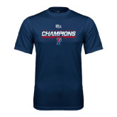 Syntrel Performance Navy Tee-2016 Ivy League Mens Fencing Champions
