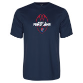 Performance Navy Tee-Penn Football Vertical