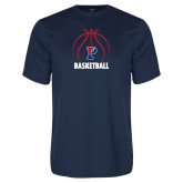 Performance Navy Tee-Penn Basketball Under Ball