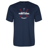 Performance Navy Tee-Pennsylvania Baseball Seams