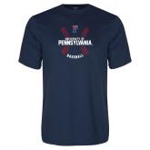Syntrel Performance Navy Tee-Pennsylvania Baseball Seams