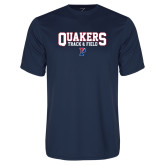 Performance Navy Tee-Quakers Track and Field