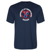 Performance Navy Tee-Soccer Circle