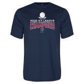 Performance Navy Tee-2018 Mens Basketball Regular Season Champions