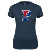 Ladies Syntrel Performance Navy Tee-Split P