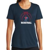 Ladies Syntrel Performance Navy Tee-Penn Basketball Under Ball