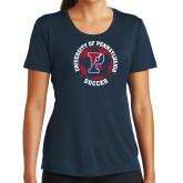 Ladies Syntrel Performance Navy Tee-Soccer Circle