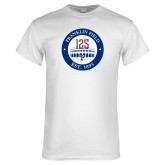 White T Shirt-Franklin Field 125 Logo