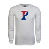 White Long Sleeve T Shirt-Split P
