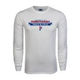 White Long Sleeve T Shirt-Pennsylvania Track & Field Banner