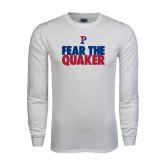 White Long Sleeve T Shirt-Fear The Quaker