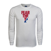 White Long Sleeve T Shirt-Fear The P