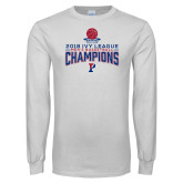 White Long Sleeve T Shirt-2018 Mens Basketball Regular Season Champions
