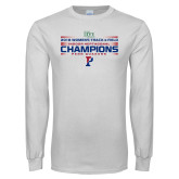 White Long Sleeve T Shirt-2018 Womens Track and Field Champions