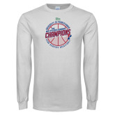 White Long Sleeve T Shirt-2018 Ivy League Mens Basketball