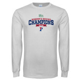 White Long Sleeve T Shirt-2018 Womens Soccer Champions