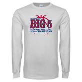 White Long Sleeve T Shirt-Big 5 Champions 2019