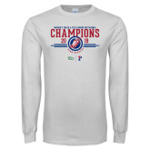 White Long Sleeve T Shirt-2019 Womens Track and Field Champions