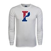 White Long Sleeve T Shirt-Split P Distressed