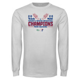 White Long Sleeve T Shirt-2020 Womens Track & Field Champs