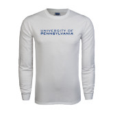 White Long Sleeve T Shirt-University of Pennsylvania
