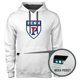 Contemporary Sofspun White Hoodie-PENN Shield