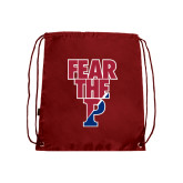 Nylon Cardinal Drawstring Backpack-Fear The P