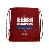 Cardinal Drawstring Backpack-2017 Ivy League Womens Basketball Champions