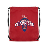 Nylon Cardinal Drawstring Backpack-2017 Ivy League Womens Lacrosse Champions