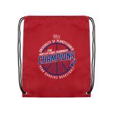Cardinal Drawstring Backpack-2018 Ivy League Mens Basketball