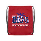 Cardinal Drawstring Backpack-Big 5 Champions 2019