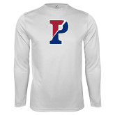 Performance White Longsleeve Shirt-Split P