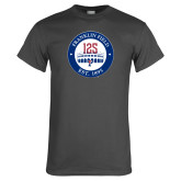 Charcoal T Shirt-Franklin Field 125 Logo