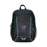 Atlas Black Computer Backpack-Split P