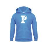 Youth Light Blue Fleece Hood-Split P