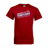 Cardinal T Shirt-Pennsylvania Basketball Slanted