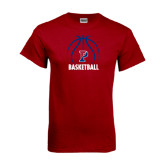 Cardinal T Shirt-Penn Basketball Stacked w/ Ball