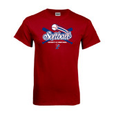 Cardinal T Shirt-Softball w/ Crossed Bats