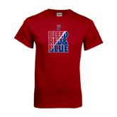 Cardinal T Shirt-Bleed Red & Blue