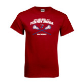 Cardinal T Shirt-Lacrosse w/ Crossed Sticks