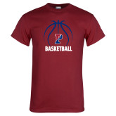 Cardinal T Shirt-Penn Basketball Under Ball