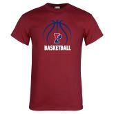 Cardinal T Shirt-Penn Basketball Under Ball
