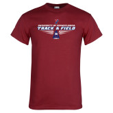 Cardinal T Shirt-Track and Field Front Shoe