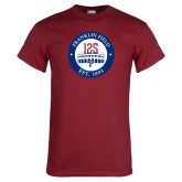 Cardinal T Shirt-Franklin Field 125 Logo