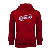 Cardinal Fleece Hood-Pennsylvania Basketball Slanted