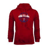 Cardinal Fleece Hood-Pennsylvania Basketball in Ball