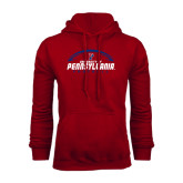 Cardinal Fleece Hood-Penn Football Horizontal