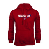 Cardinal Fleece Hood-Pennsylvania Football Stacked