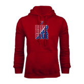 Cardinal Fleece Hood-Bleed Red & Blue